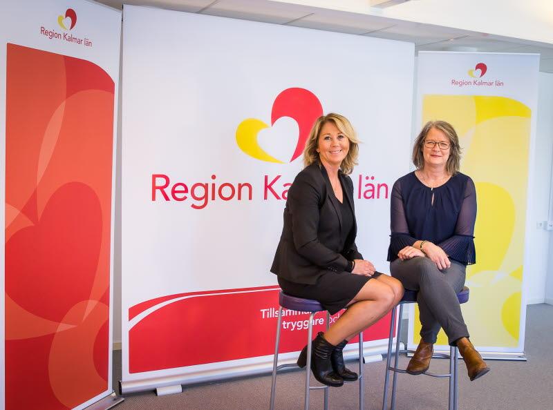 Ingeborg Eriksson, regiondirektör och Helena Nilsson, regional utvecklingsdirektör